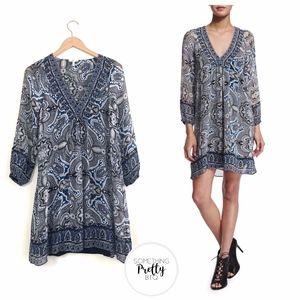 JOIE Abba Paisley Scarf Print Silk Dress